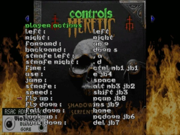heretic how to change controls